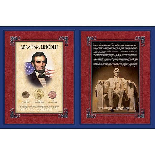 American Coin Treasures Abraham Lincoln Gettysburg Address