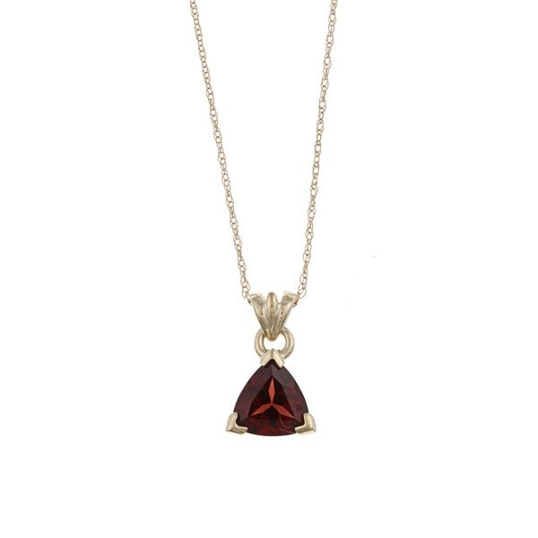 FJC 14k Gold Garnet Necklace