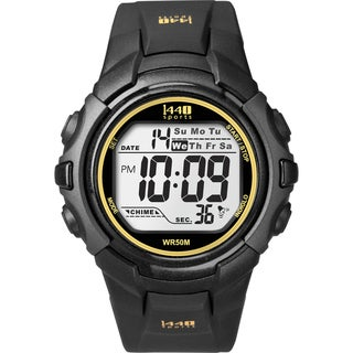 Timex Men's T5K457 1440 Sports Digital Black/Yellow Watch