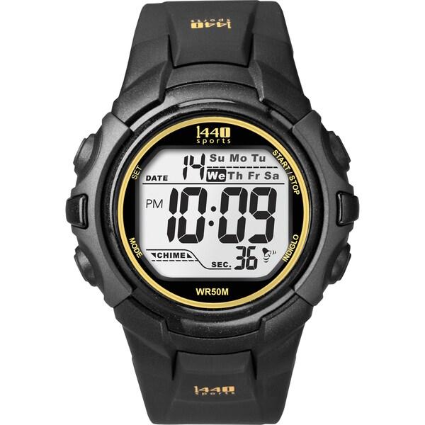 Timex Men's T5K457 1440 Sports Digital Black/Yellow Watch