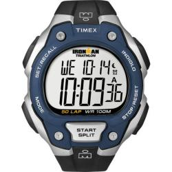 Timex Men's T5K496 Ironman Traditional 50-Lap Blue/Black Watch
