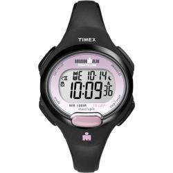 Timex Women's T5K522 Ironman Traditional 10-Lap Black/Pink Watch