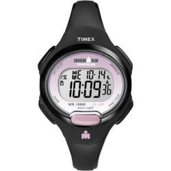 Timex T5K5229J Women's Ironman Traditional 10-lap Black/ Pink Watch