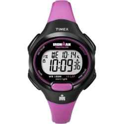 Timex Women's T5K525 Ironman Traditional 10-Lap Bright Pink/Black Watch
