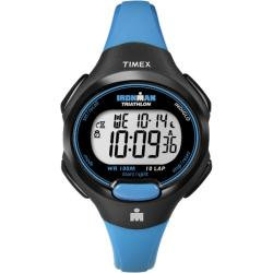 Timex Women's T5K526 Ironman Traditional 10-Lap Bright Blue/Black Watch