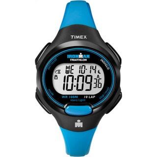 Timex Women's T5K526 Ironman Traditional 10-lap Bright Blue/ Black Watch