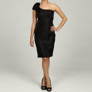 Jessica Howard Petite Black One-Shoulder Dress FINAL SALE