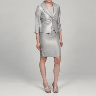 Jessica Howard Women's Petite 2-piece Split Sleeve Jacket Dress