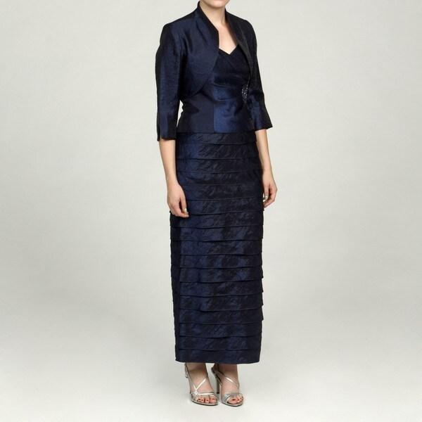 Jessica Howard Petite 2-piece Embellished Ruffle Dress