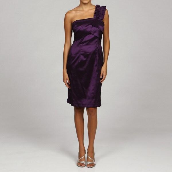 Jessica Howard Women's Ruffled One-Shoulder Dress FINAL SALE