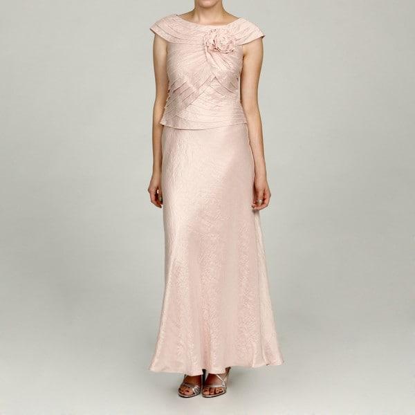 Jessica Howard Petite Pink Layered Ruffle Dress