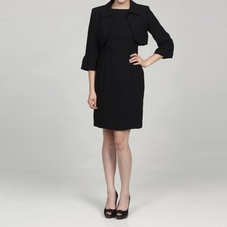Jessica Howard Petite Crop Bell Sleeve Jacket Dress