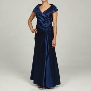 Jessica Howard Petite Navy Portrait Collar Dress