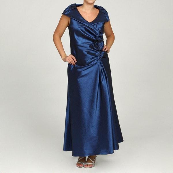 Jessica Howard Women's Plus Size Navy Collar Dress