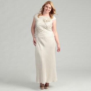 Jessica Howard Women's Plus Size Ruffled Dress FINAL SALE
