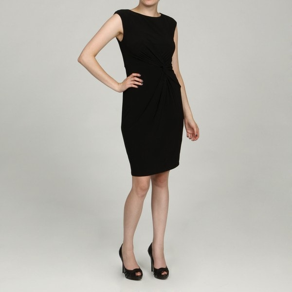 Jessica Howard Women's Petite Black Side Ruched Dress FINAL SALE
