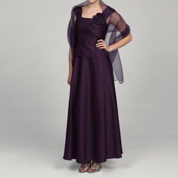 Jessica Howard Petite Embellished Neckline Dress FINAL SALE