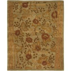 Safavieh Handmade Far East Sage Wool Rug (7'6 x 9'6)