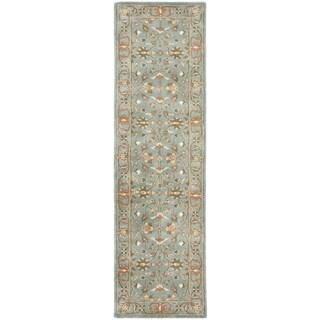 Safavieh Handmade Heritage Nir Blue Wool Rug (2'3 x 8')