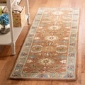 Handmade Heritage Darab Brown/ Blue Wool Rug (2'3 x 14')