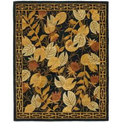 Safavieh Handmade Autumn Black Wool Rug (8' x 11')