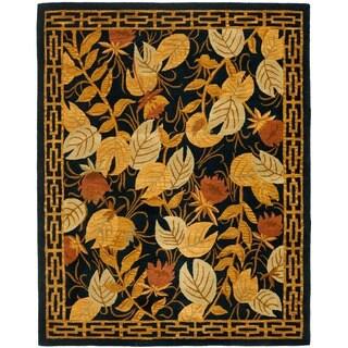 Safavieh Handmade Autumn Black Wool Rug (7'6 x 9'6)