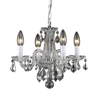 Christopher Knight Home Crystal 62227 4-light Chrome Chandelier
