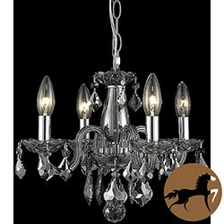 Christopher Knight Home Crystal 62272 4-light Silver Shade Chandelier