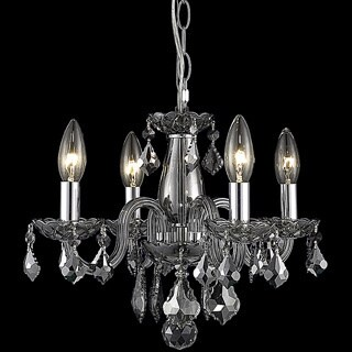 Somette Crystal 62272 4-light Silver Shade Chandelier