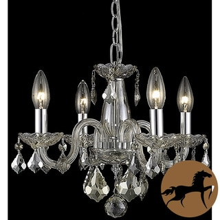 Christopher Knight Home Crystal 62258 4-light Golden Teak Chandelier