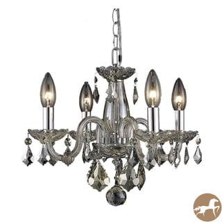 Christopher Knight Home Crystal 62258 4-light Golden Teak Chandelier