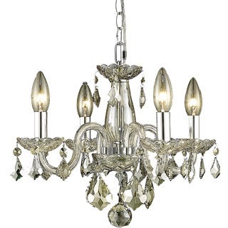 Christopher Knight Home Crystal 62241 4-light Golden Shadow Chandelier