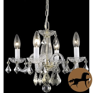Christopher Knight Home Crystal 62234 4-light Gold Chandelier