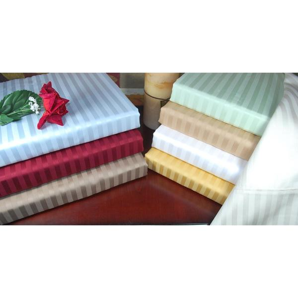 Luxor Treasures Egyptian Cotton 300 Thread Count Queen Waterbed Stripe Sheet Set