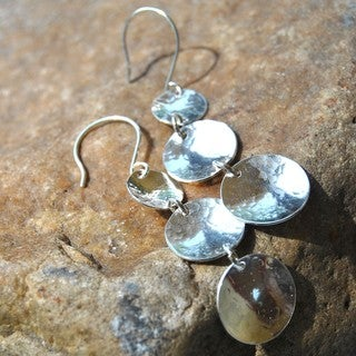 AEB Design Sterling Silver Triple Cup Earrings