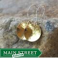 AEB Design Red Brass and Sterling Silver Single-cup Earrings