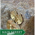 AEB Design Red Brass and Sterling Silver Double-cup Earrings