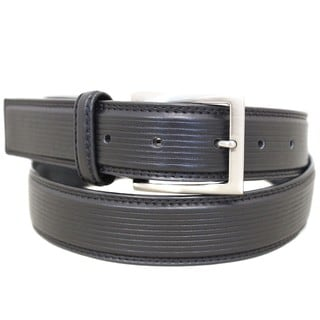 Entourage Men's Leather Square Buckle Belt