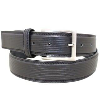 Entourage Men's Leather Square Buckle Belt