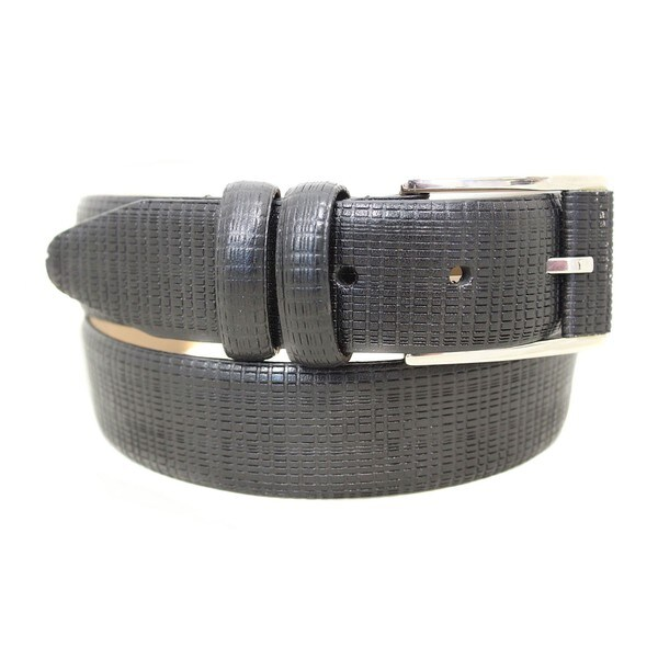 Entourage Reptile Pattern Leather Dress Belt