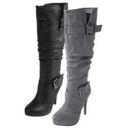 Journee Collection Women's 'Katherine-2' Strappy Heeled Boots