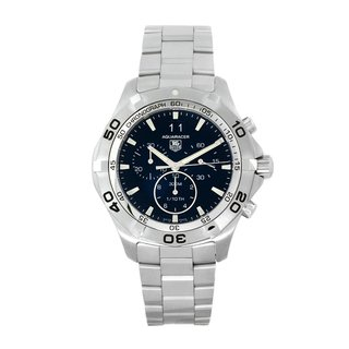 TAG Heuer Men's 'Aquaracer' Stainless Steel Black Dial Watch