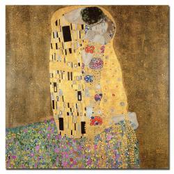 Gustav Klimt 'The Kiss, 1907-8' Gallery-wrapped Canvas Art