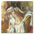 Edgar Degas 'Woman Drying Herself, 1888-92' Canvas Art