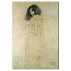 Gustav Klimt 'Portrait of a Young Woman,1896-97' Gallery-wrapped Canvas Art