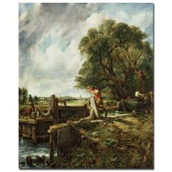 John Constable 'The Lock, 1824' Gallery-wrapped Canvas Art