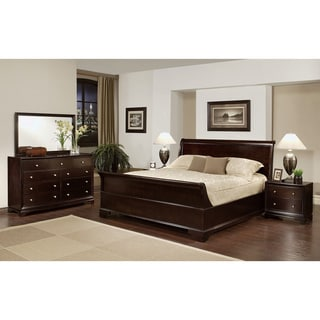 Abbyson Living Kingston 5-piece Espresso Sleigh King-size Bedroom Set