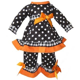 Ann Loren Gingham and Dots Outfit For 18-inch American Girl Dolls