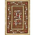 Alliyah Handmade New Zeeland Blend Hand-tufted Brown Square Rug (5' x 8')