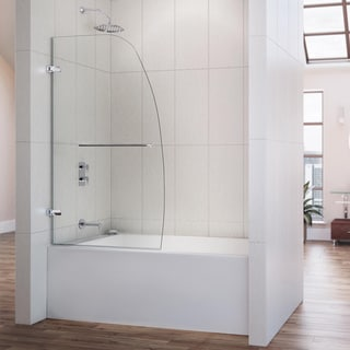 DreamLine Aqua Uno 34x 58-inch Single Panel Hinged Tub Door